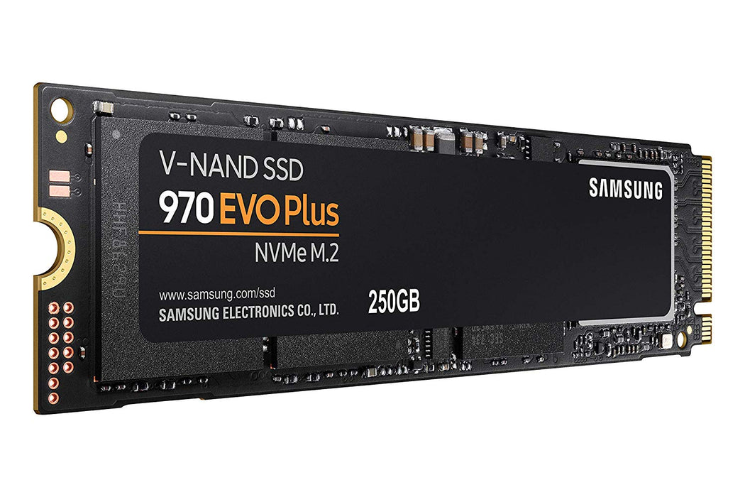 Samsung 970 EVO Plus 250GB NVMe SSD, Read Speed up to 3500 MB/s, Write Speed to up 2300 MB/s