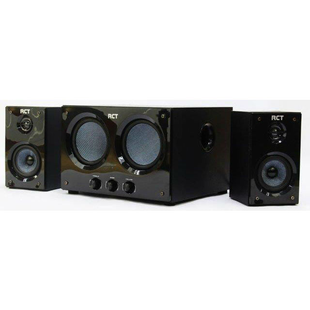RCT 2.2 Channel Stereo USB Speaker (2xSatellite + 1xDual-Sub Unit, 20W)