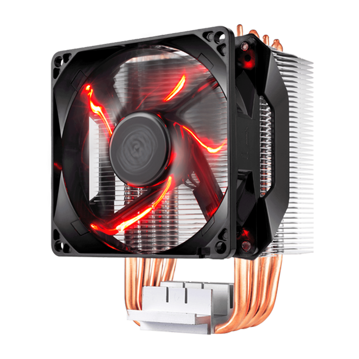 CM H410 TOWER BASED AIR BLOWER CPU COOLER; 92MM RED LED FAN