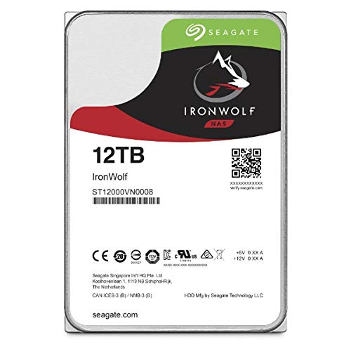 Seagate Ironwolf 12TB NAS, 3.5'' Internal, SATA 6GB/s, RPM 7200, 256MB Cache