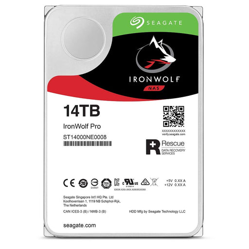 "Seagate 14Tb 3.5"" Iron Wolf Pro NAS HDD SATA 6Gbps"