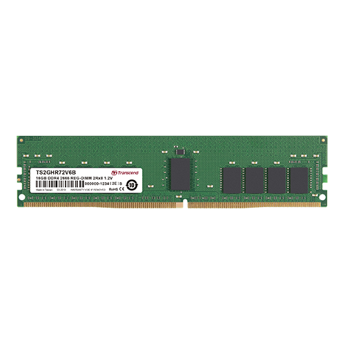 Transcend 32GB DDR4-2666 Registered ECC U-DIMM 2RX4 2GX4