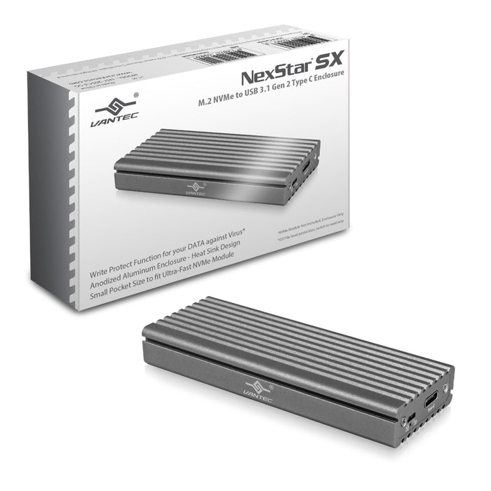 Vantec USB3.1 Type-C M.2 NVMe SSD Enclosure