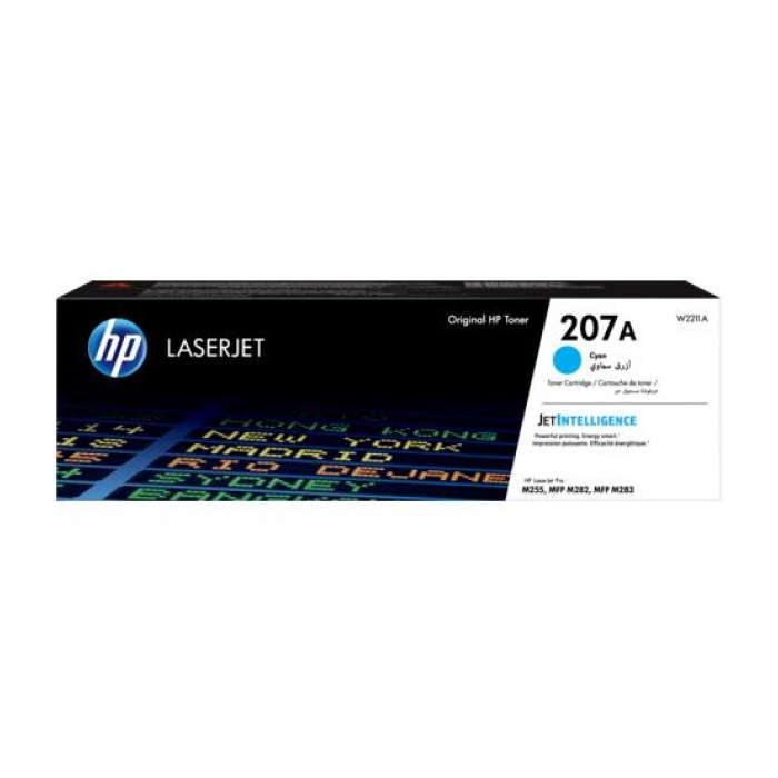 Hp 207A Cyan Laser Jet Toner Cartridge; 1250 Pages