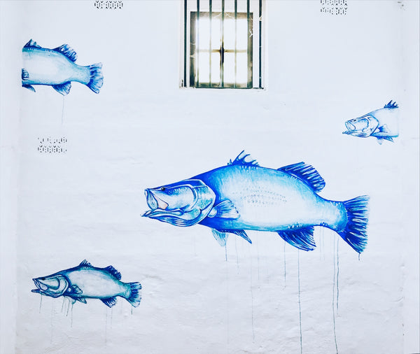 The Lock Up Cafe - Blue Barra Mural