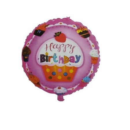 Balon folie rotund Happy Birthday briosa 45cm