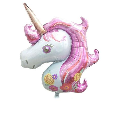Balon folie Cap Unicorn roz 108 x 88 cm