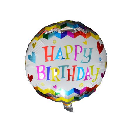 Balon folie Happy Birthday, Multicolor, 45 cm - Mirajul Nuntii