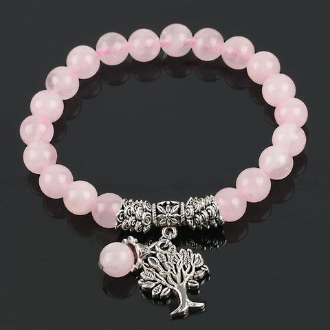 "Bracelet ""Tendresse"" en Quartz Rose"