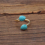 bague ajustable en amazonite naturelle