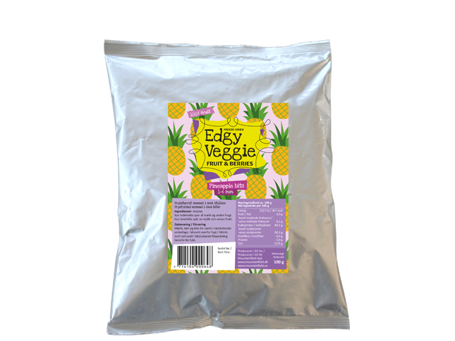 Edgy Veggie Freezedried Pineapple Bits (1-6 mm) (100 g)
