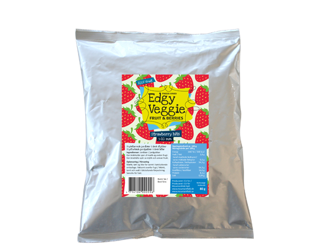 Edgy Veggie Freezedried Strawberry Bits (5-10 mm) (80 g)