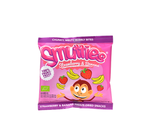 Smutties frugtsnacks - Banana / Strawberry, økologisk (6 g)