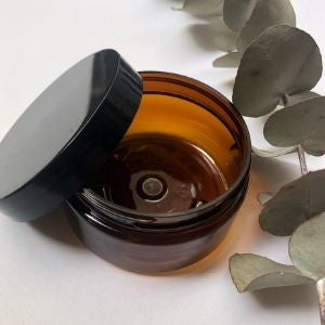 Jar Amber PET 100g & Black Cap