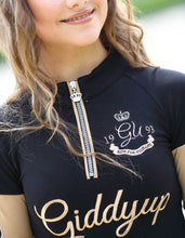Giddy Up Girl Mable Zip Neck Top