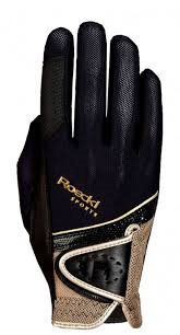 Roeckl Madrid Gloves Black and Gold
