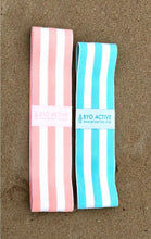 Pink and Blue Fabric Resistance Band Bundle (Medium & Heavy Resistance)