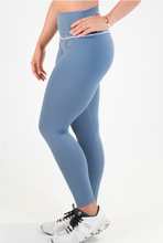 Yeung no More 7/8th leggings (Stone Blue & White)