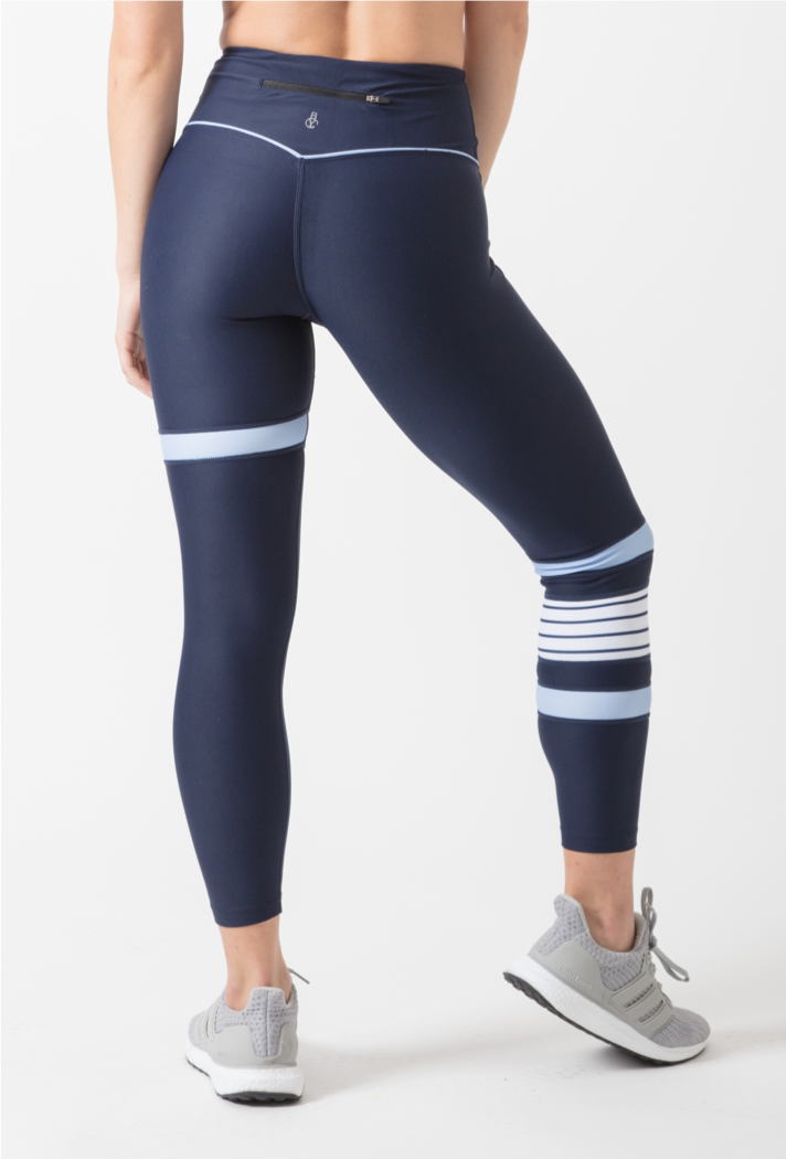 Navy and Nautical striped Leggings