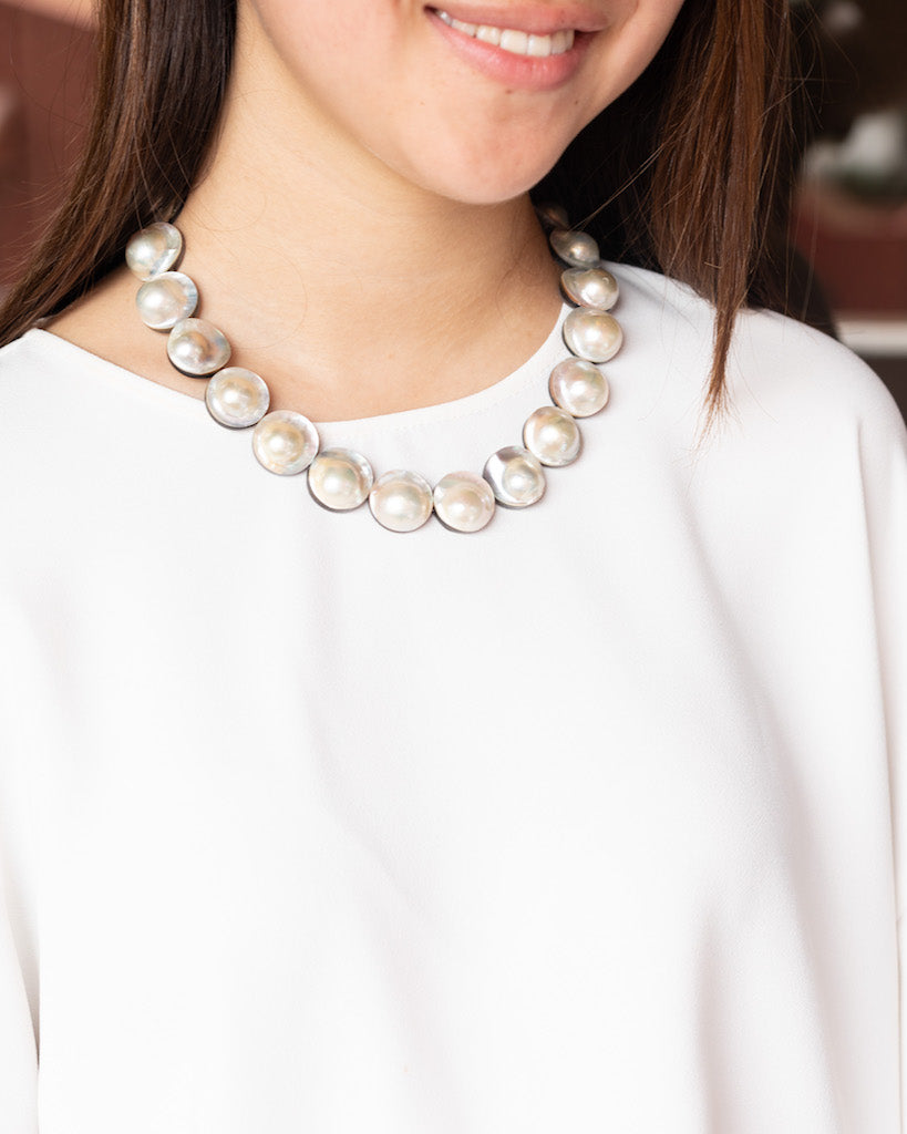 CLASSIC WHITE MABE PEARL NECKLACE