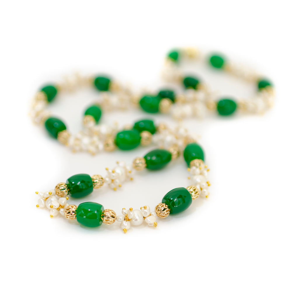 JADE AND PEARL NECKLACE-BIG