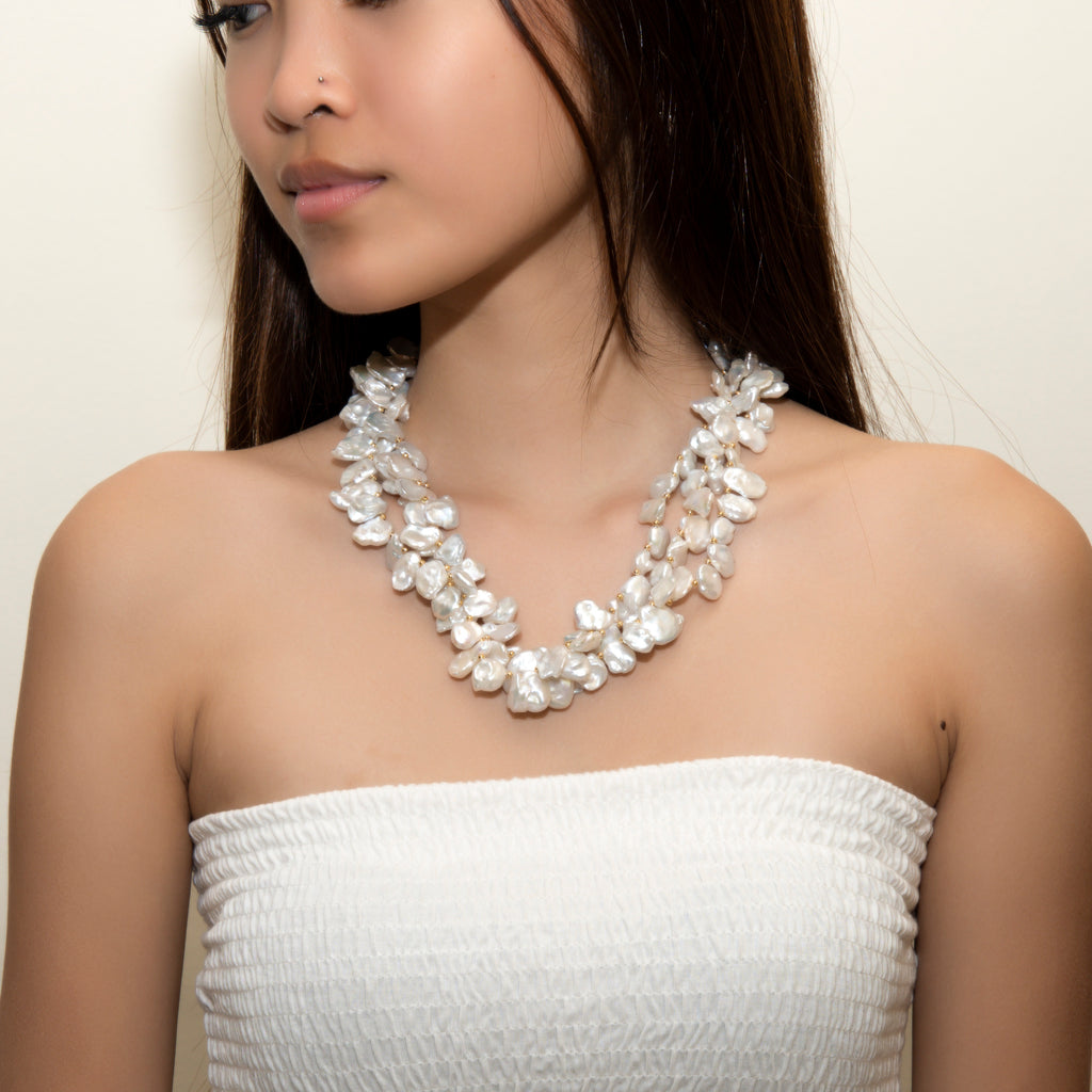 LUSTROUS KESHI PEARL NECKLACE