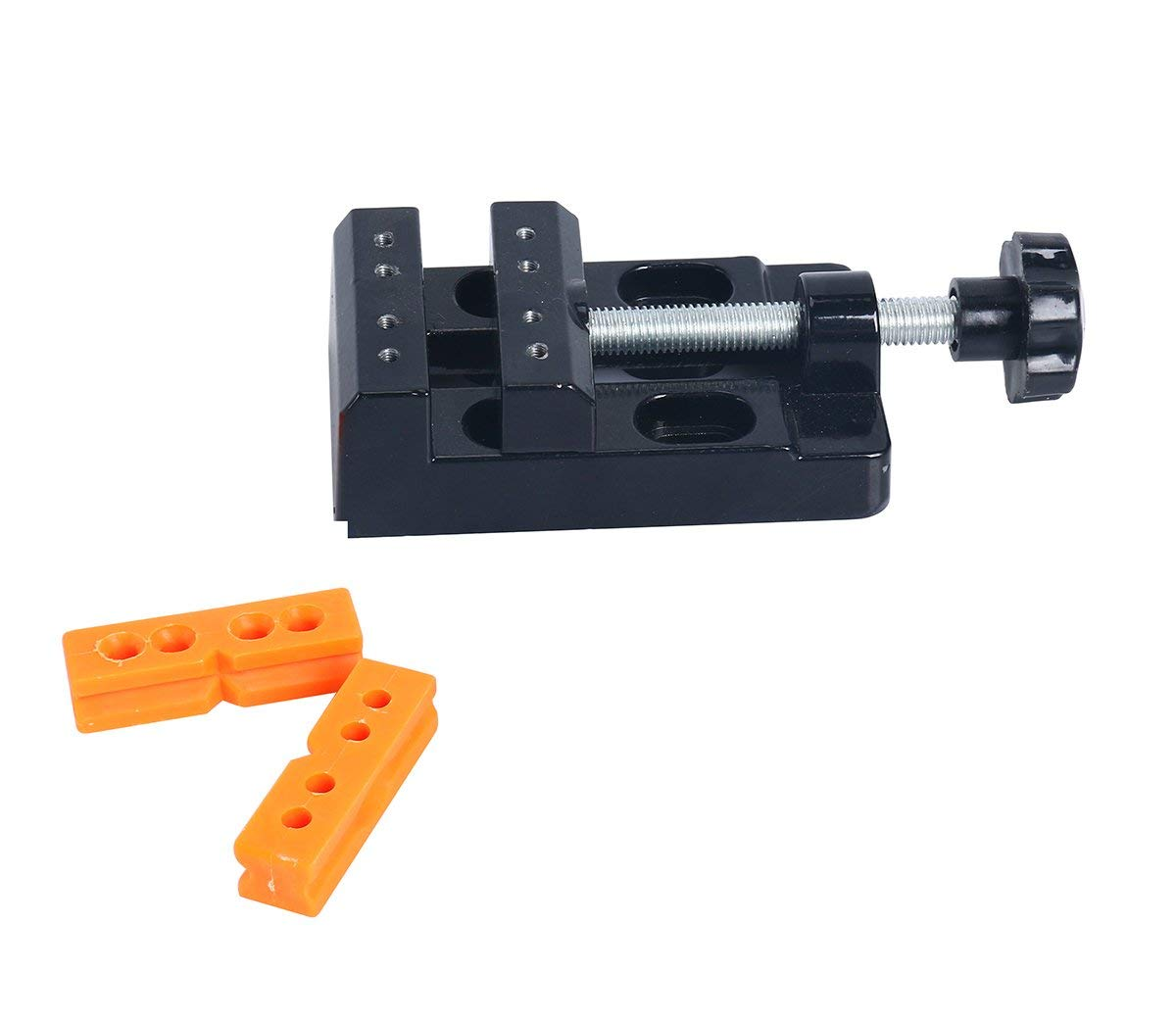 Milelake mini flat clamp table jaw bench clamp drill press vise