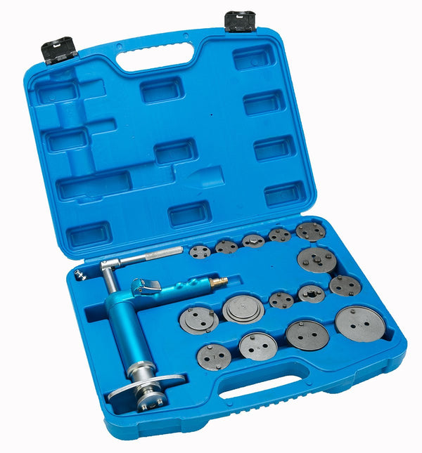 8milelake 16pcs Pneumatic Disc Brake Caliper Piston Air Brake Caliper Piston Compressor Master Tool Kit