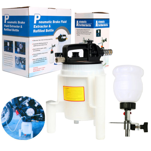 8milelake 2L Pneumatic Brake Oil and Fluid Extractor and Brake Bleeder Kit