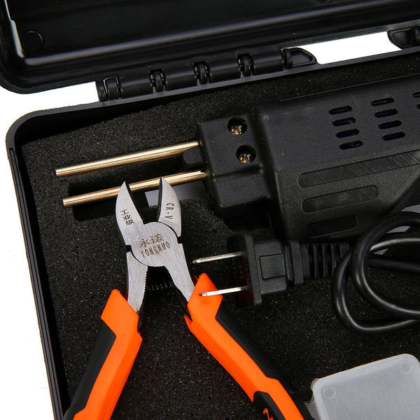 8milelake Handy Hybrid Plastic Welder HPW Hot Staplers Machine Auto Bumper Repair Tool Staple PVC Plastic Welding Machine + A Pliers