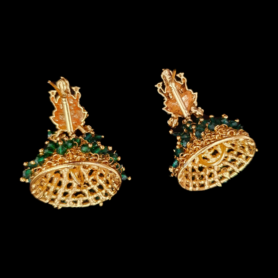 Gold Plated Beautiful Temple Earrings (BAERS0556)