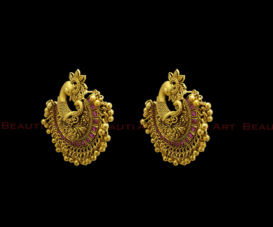 Chandbali Style Earrings - Beautiart Fashion Jewellery