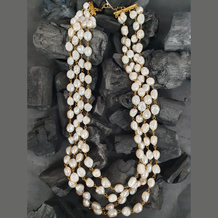 Fashionable Mala Having Multi Layer White Beads (BANS00294)