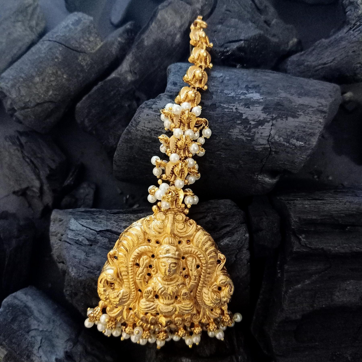 Gold Plated Temple Style Maang Tikka (BAMT041)