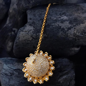 Gold Plated Maang Tikka Intricate with Vilandi Stones (BAMT032)