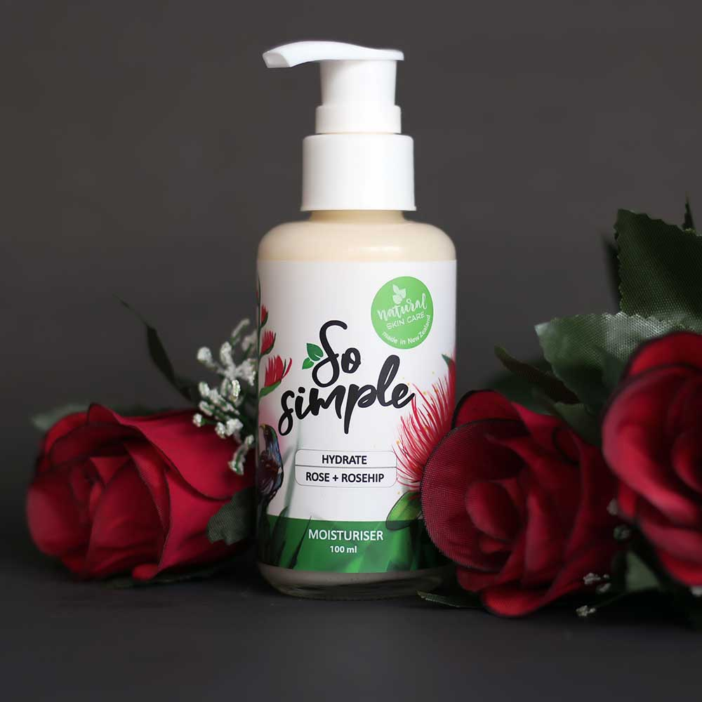 Rose & Rosehip Daily Face & Body Moisturiser - SoSimple Skincare