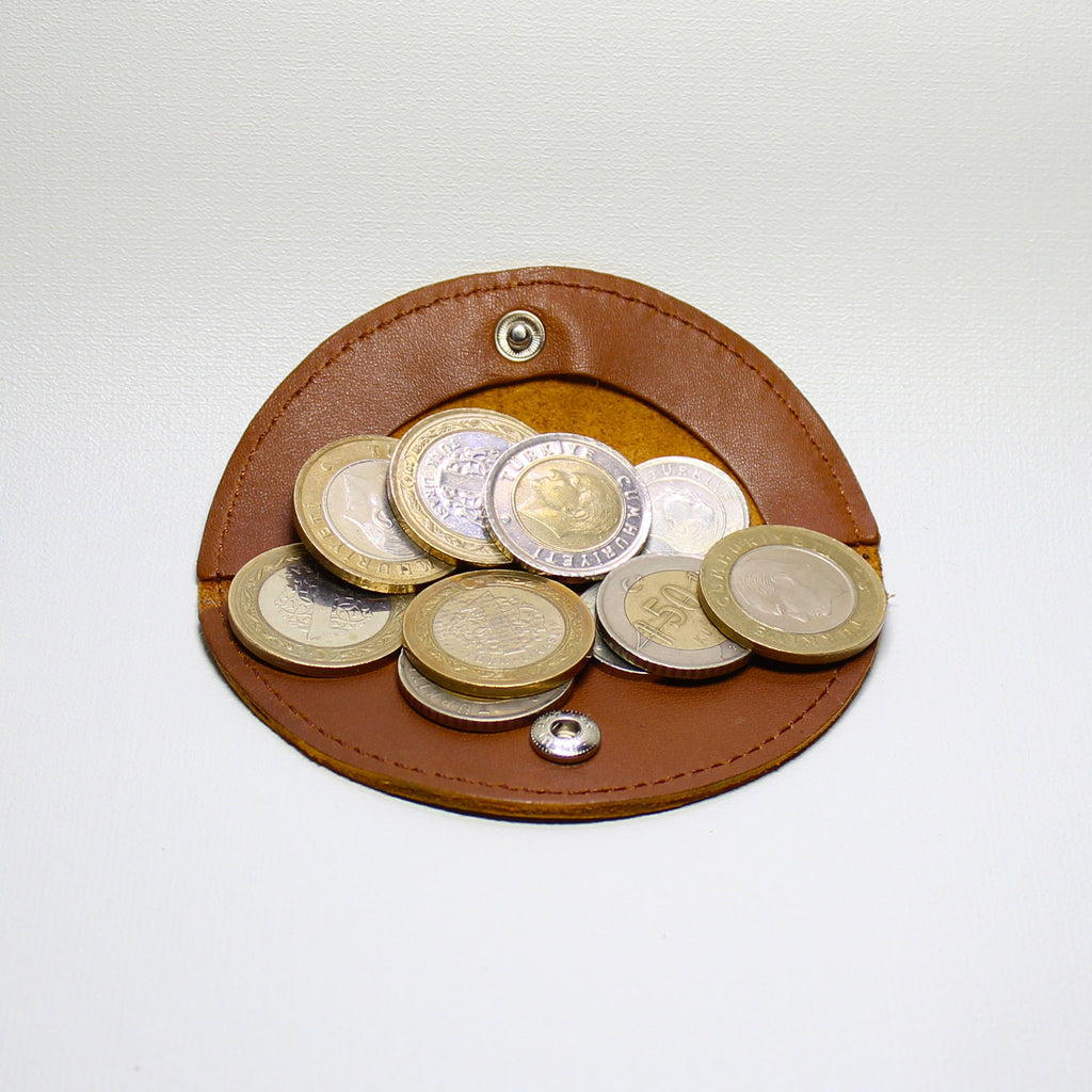 Rond Leather Coin & Headphone Organizer