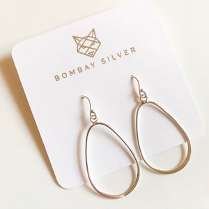 Bombay Silver Pear Drop Dangles