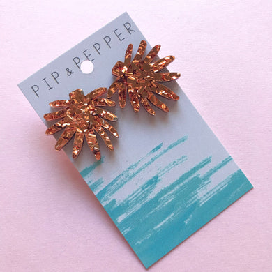 Fireworks Statement Studs Copper