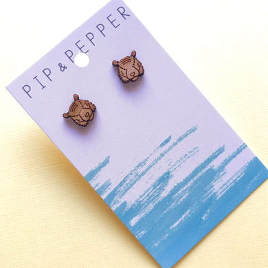 Tiger Head Studs Bamboo