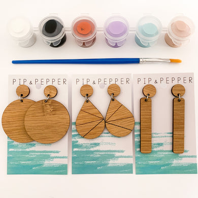 DIY Kit (Pastel) Paint Your Own Earrings