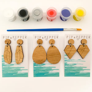 DIY Kit (Primary) Paint Your Own Earrings