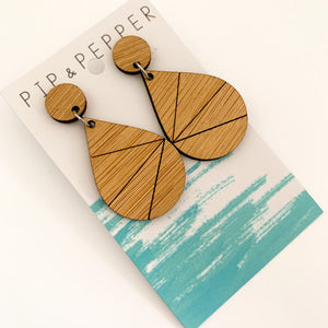 Blank Bamboo Earrings (Paint Your Own) Geo Drops