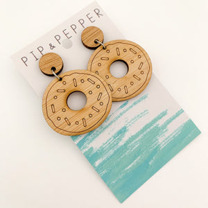 Blank Bamboo Earrings (Paint Your Own) Donuts