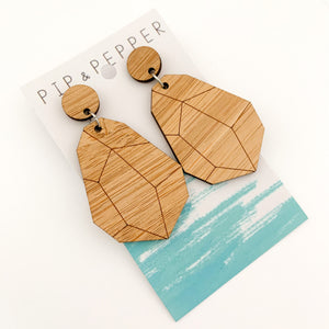 Blank Bamboo Earrings (Paint Your Own) Large Geos