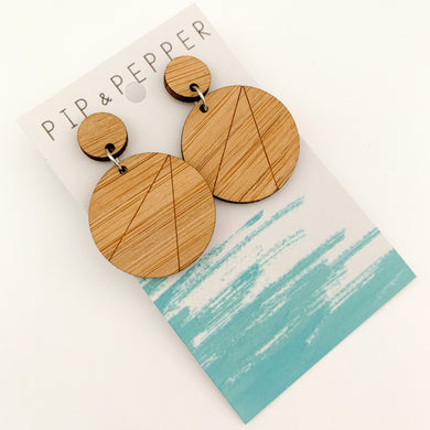 Blank Bamboo Earrings (Paint Your Own) Geo Circles