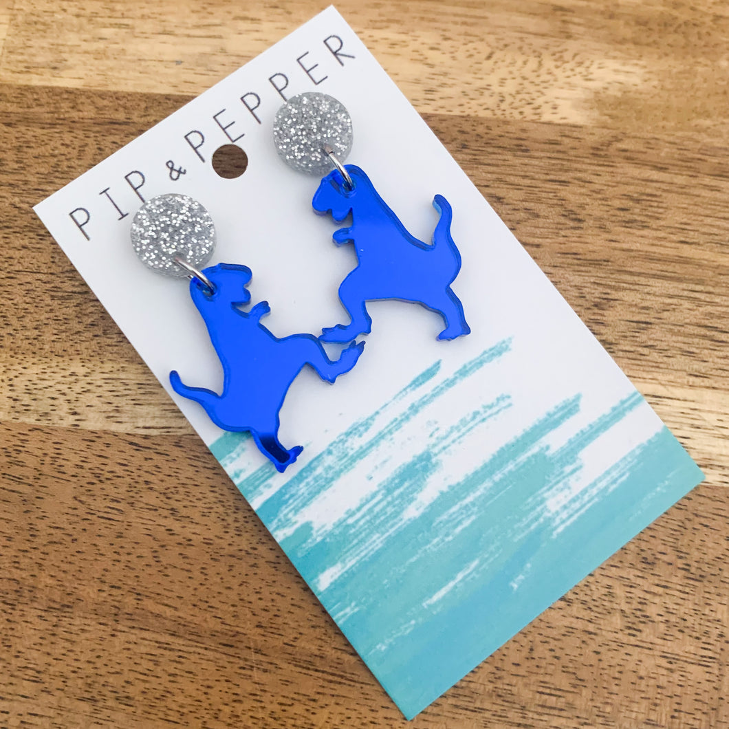 Mini T-Rex Dangles (Blue)