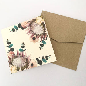 Nurturing Nature Protea Card