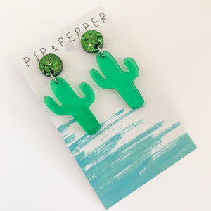 Cactus Dangles (Clear Green)