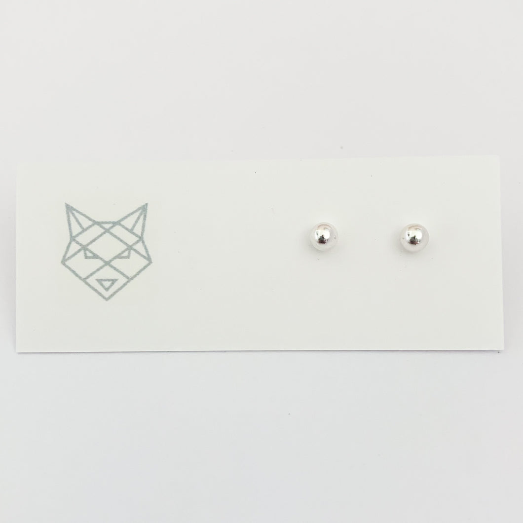 Bombay Silver Ball Studs (4mm)